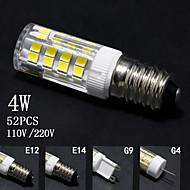 billige Kornpærer med LED-4W E14 / G9 / G4 / E12 LED-kornpærer T 52 SMD 2835 320lm±5% lm Varm hvit / Kjølig hvit Dekorativ AC 220-240 / AC 110-130 V 5 stk.