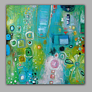 cheap Oil Paintings-Hand-Painted Abstract Square, Style Canvas Oil Painting Home Decoration One Panel