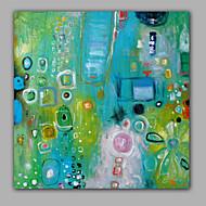 billiga Abstrakta målningar-Hang målad oljemålning HANDMÅLAD - Abstrakt Samtida Duk