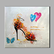 Oil painting Modern Abstract Pure Hand Draw Frameless Decorative Painting The High Heels