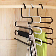 calças de ferro guarda-roupa mágico multifuncionais s gancho antiderrapante suporte multi-camada (cor aleatória)