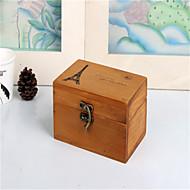 billige Lagring og oppbevaring-vintage tre tårn boks tre håndverk interiørtrenden oppbevaringsboks med lås