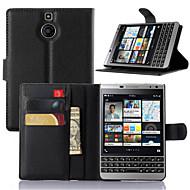 billiga Mobil cases & Skärmskydd-fodral Till Blackberry BlackBerry-fodral Korthållare / med stativ / Lucka Fodral Enfärgad Hårt PU läder för