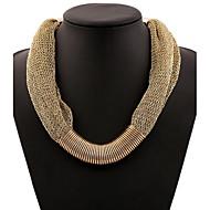 Dam Uttalande Halsband damer Europeisk Mode afrikansk Guld Ljusblå Halsband Smycken Till Speciellt Tillfälle Födelsedag Gåva