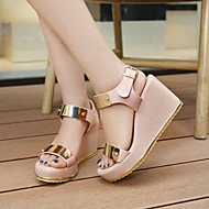 Women's Shoes Heel Wedges / Heels / Peep Toe / Platform Sandals / Heels Outdoor / Dress / Casual Black / Pink / Beige