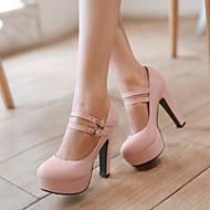 Žene Cipele Umjetna koža Proljeće Ljeto Stiletto potpetica Platformske cipele za Kauzalni Ured i karijera Formalne prilike Bež Crvena