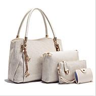 お買い得  バッグセット-女性用 バッグ PU トート / バッグセット 3個の財布セット のために アウトドア ホワイト / ブラック / ブルー