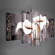Χαμηλού Κόστους Πάνω Καλλιτέχνης-Hang-ζωγραφισμένα ελαιογραφία Ζωγραφισμένα στο χέρι - Άνθινο / Βοτανικό Κλασσικό / Παραδοσιακό / Μοντέρνα Πίνακας Μόνο / Πεντάπτυχα