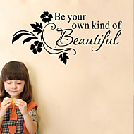 cheap Wall Stickers-American Style Be Your Own Kind Of Beautiful Wall Sticker Diy Art Wall Decals Home Decor
