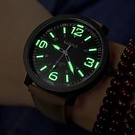 Homens Relógio de Pulso Relógio Militar Quartzo PU Banda Preta Marrom