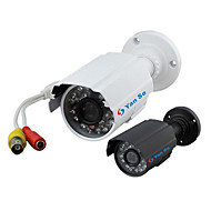 cheap CCTV Cameras-YanSe® 1000TVL 3.6mm Metal aluminum D/N CCTV Camera IR 24 LED Security Waterproof Wired 6624CF
