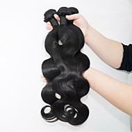 זול -שיער אנושי שיער ברזיאלי טווה שיער אדם Body Wave תוספות שיער 3 חלקים שחור