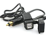 dvojitá USB nabíječka adaptér s konektorem kabelu 12V 5V BMW motoru věnován