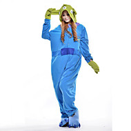 Χαμηλού Κόστους New Cosplay®-Ενηλίκων Πιτζάμα Kigurumi Monster / Μπλε Τέρας Πιτζάμα Onesie Στολές Πολική Προβιά Cosplay Για ζώο Πυτζάμες Κινούμενα σχέδια Απόκριες Γιορτές / Διακοπές / Χριστούγεννα