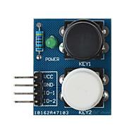 sensor de módulo de botão de toque a tecla 2-independente para arduino + pi framboesa - azul
