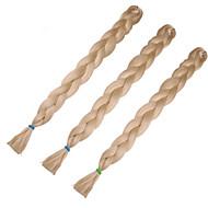 Örgülü Saçlar Kutu örgüler Jumbo Örgüler Sentetik Saç 1pc / paket, 3 Kökler Saç Örgü