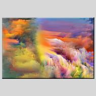 billiga Abstrakta målningar-Hang målad oljemålning HANDMÅLAD - Abstrakt Klassisk Europeisk Stil Moderna Duk