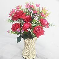 preiswerte -Künstliche Blumen 1 Ast Europäischer Stil Orchideen / Rosen Tisch-Blumen