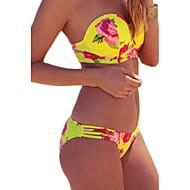 Dame Grime Bikini - Blomstret Bukse / Sommer / Push-up / Ferie / Blomstermønstre