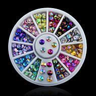 Biżuteria na paznokcie / Brokat / Inne dekoracje-Palec-Rysunek / Streszczenie / Zwierzę / Ślub-Akrylowy-6*6-1Set