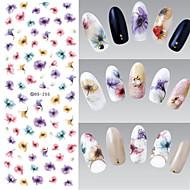 1 Neglekunst klistremerke Vann Overføre Dekor Negle Smykker 3D Negle Klistremerker Blomst Sminke Kosmetikk Neglekunst Design