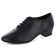 "Women's Modern Leatherette Flat Practice Lace-up Flat Heel Black Under 1"" Customizable"