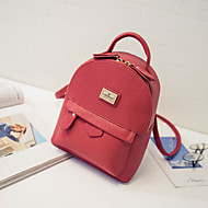baratos Mochilas-Mulheres Bolsas PU mochila para Ao ar livre Roxo / Vermelho / Rosa claro