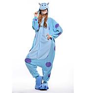 Pijamas Kigurumi Blue Monster Pijamas Macacão Ocasiões Especiais Lã Polar Azul Cosplay Para Adulto Pijamas Animais desenho animado Dia