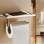 Toilet Paper Holder / Silver Stainless Steel /Contemporary