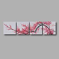 voordelige -Hang-geschilderd olieverfschilderij Handgeschilderde - Bloemenmotief / Botanisch Modern Kangas