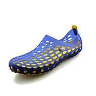 メンズ サンダル コンフォートシューズ 穴の靴 シリコン 春 夏 秋 カジュアル ウォーターシューズ ウォーキング コンフォートシューズ 穴の靴 フラットヒール イエロー グリーン ブラック/レッド カーキ色 ネービーブルー フラット