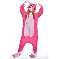 Kigurumi Pyžama Modrá Monster Kostýmový overal Pyžama Kostým polar fleece Růžová Cosplay Pro Dospělé Animal Sleepwear Karikatura Halloween