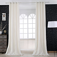 Two Panels Curtain Designer , Solid Bedroom Linen Material Curtains Drapes Home Decoration For Window