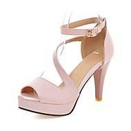 baratos Sapatos Femininos-Mulheres Sapatos Courino Verão Salto Agulha / Plataforma Azul / Rosa claro / Amêndoa / Festas & Noite / Festas & Noite