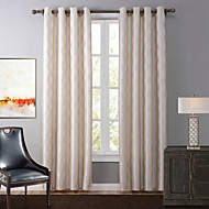 billige Gardiner og draperinger-Propp Topp Et panel Window Treatment Moderne, Mønstret Geometrisk Soverom Polyester Materiale Blackout Gardiner Hjem Dekor
