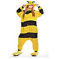 Χαμηλού Κόστους New Cosplay®-Ενηλίκων Πιτζάμα Kigurumi Μέλισσα Πιτζάμα Onesie Στολές Πολική Προβιά Κίτρινο Cosplay Για ζώο Πυτζάμες Κινούμενα σχέδια Απόκριες Γιορτές / Διακοπές / Χριστούγεννα