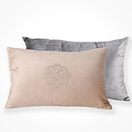 cheap Cushion Sets-2 pcs Polyester Pillow Cover, Embellished&Embroidered Accent/Decorative Traditional Modern/Contemporary
