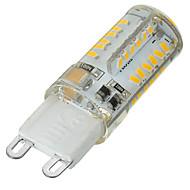 billige Bi-pin lamper med LED-G9 LED-lamper med G-sokkel Innfelt retropassform 58 leds SMD 3014 Mulighet for demping Dekorativ Varm hvit Kjølig hvit 400-500lm 3500/6500