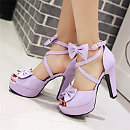 cheap Extended-Size Shoes-Women's Shoes Chunky Heel Peep Toe / Platform / Open Toe Sandals Party & Evening / Dress / CasualBlack / Pink / Purple /
