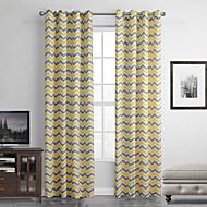 Et panel Moderne Stripe Multi-farge Stue Polyester Panel Gardiner Gardiner