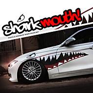 """olcso -A mérete 60 """"* 20"""" cool cápa szája fogakkal ho autó karosszéria matrica matrica fényvisszaverő (1 pár)"""