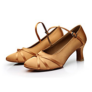 baratos Sapatilhas de Dança-Mulheres Sapatos de Dança Moderna Cetim Salto Presilha / Cadarço de Borracha Salto Personalizado Personalizável Sapatos de Dança Preto /