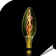 billige Glødelampe-25w c35 edison wolfram glødelamper for krystall stearinlys pære boble kule (assortert farge)