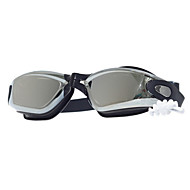 billiga Swim Goggles-Simglasögon Anti-Dimma Justerbar storlek Kiselgel PC Grå Röd Svart