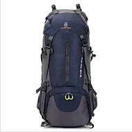 60L L batoh Ruksak Outdoor a turistika cestování Voděodolný Voděodolný zip Nositelný Prodyšné Oxford Nylon