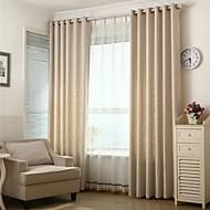 billige Gardiner ogdraperinger-To paneler Window Treatment Europeisk , Solid Stue Lin Materiale Blackout Gardiner Hjem Dekor For Vindu