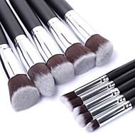 10pcs Make-up pensler Professionel Brush Sets / Rougebørste / Øjenskyggebørste Nylon Børste Bærbar / Rejse / Øko Venlig Træ