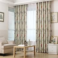Twee panelen Window Behandeling Modern Neoklassiek Mediterraans Europees Landelijk Slaapkamer Polyester Materiaal Curtains Drapes