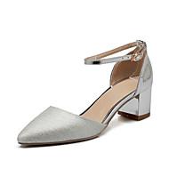 baratos Sapatos Femininos-Feminino Sapatos Materiais Customizados Inverno Primavera Verão Outono Salto Robusto Presilha Vazados para Casamento Social Festas & Noite