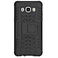 halpa -Varten Samsung Galaxy kotelo Iskunkestävä Etui Takakuori Etui Panssari PC Samsung J7 / J5 (2016)